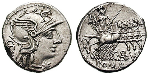 Roman coin - Aburia - Silver Denarius